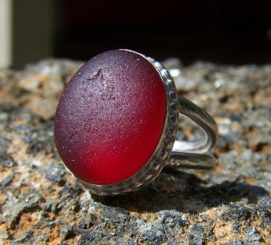 SCSG red sea glass ring