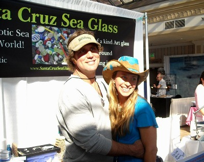 Krista and Tony at the Santa Cruz sea glass festival